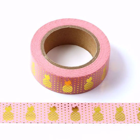 pink pineapples washi tape