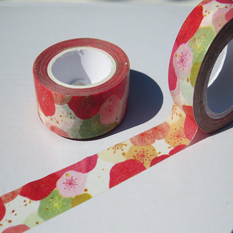 colourful floral washi masking tape