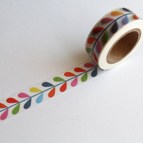 colourful vine leaf washi tape