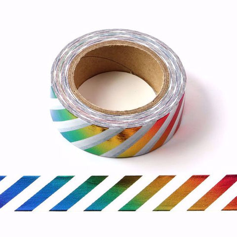 rainbow stripe washi tape