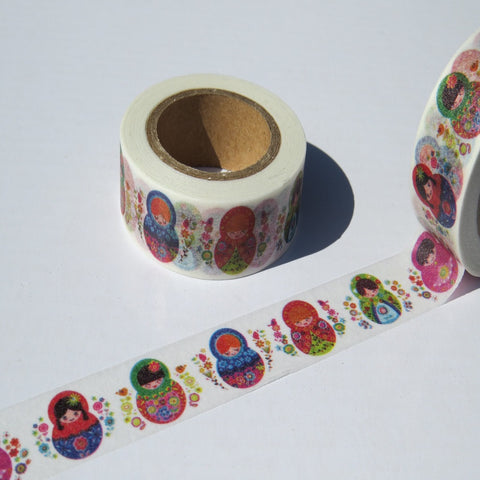 russian dolls washi masking planner tape
