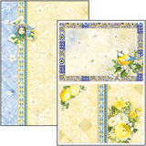 yellow blue cardstock
