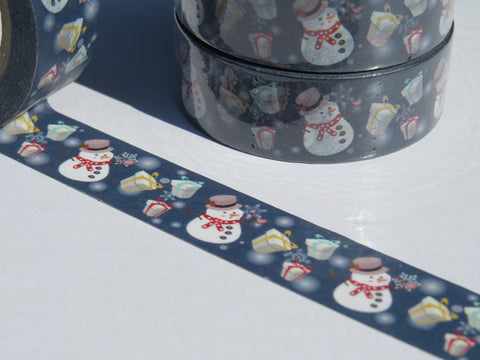 snowman christmas washi masking tape