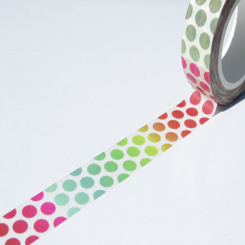 rainbow spots washi decorative paper tape