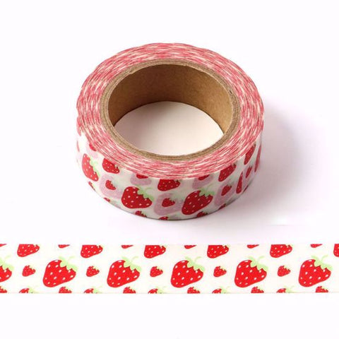 red strawberry washi tape