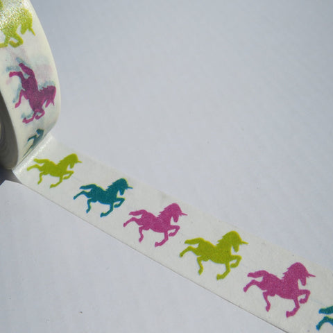 rainbow unicorns washi masking paer tape