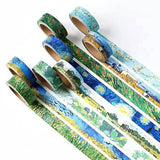 8 Designs New Van Gogh Washi Tapes - SusiebSupplies