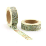 antique map washi tape