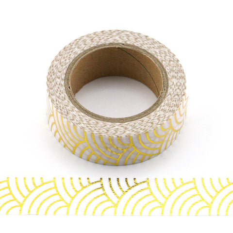 Gold Foil Waves Washi Tape A418