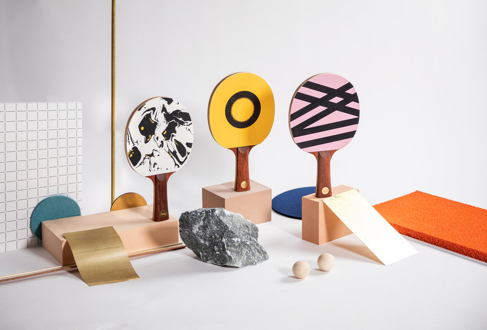 Ping pong paddles for design snobs