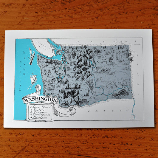Washington State - Paper print