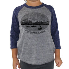 Load image into Gallery viewer, Mt. Baker - Youth Triblend Baseball (Grey/Navy) Kids Andrew