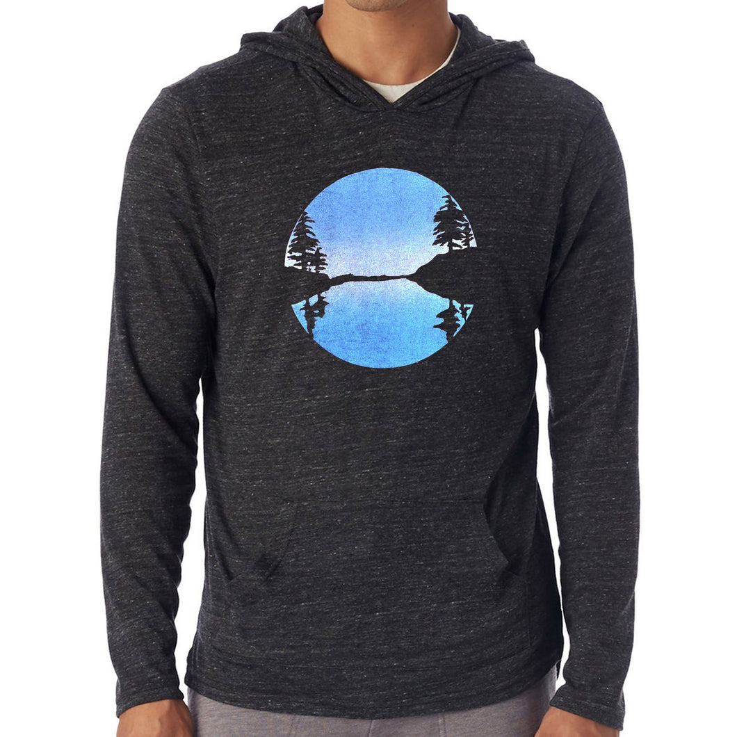 Otter Cove - Unisex eco triblend lightweight hoodie (Black) Sweatshirt Printshop Northwest
