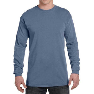 Unisex Cotton Long Sleeve (Blue Jean) Shirt AlphaBroder