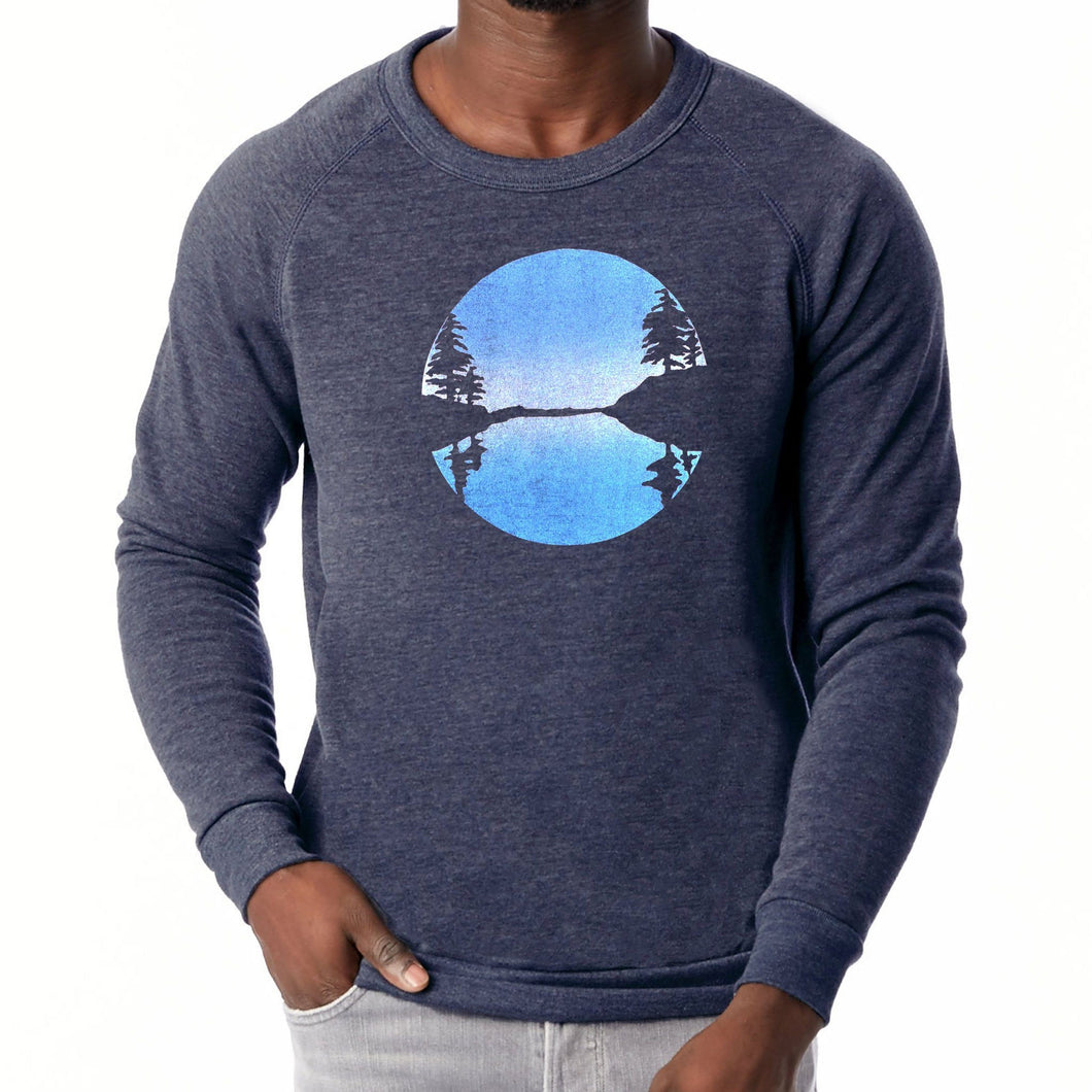Otter Cove - Unisex eco fleece sweatshirt (Navy) Sweatshirt Printshop Northwest