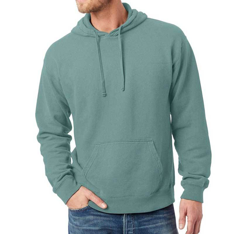 Unisex Cotton Garment Dyed Hoodie (Cypress) Sweatshirt AlphaBroder