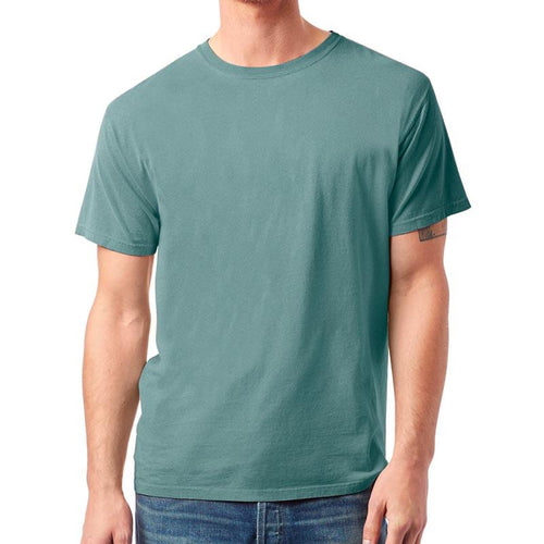 Custom printed - Mens 100% Cotton Garment Dyed (Cypress) Shirt Alternative
