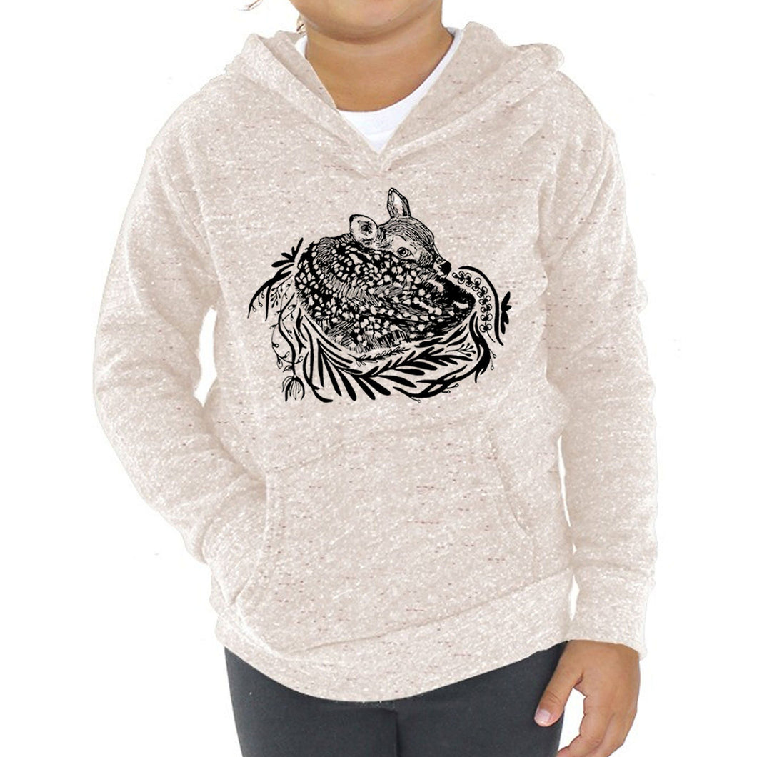 Fawn - Kids Triblend Fleece Hoodie (Oatmeal) Sweatshirt Kate