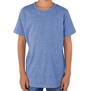 Custom printed - Kids triblend t-shirt (Athletic Blue) Shirt Alternative