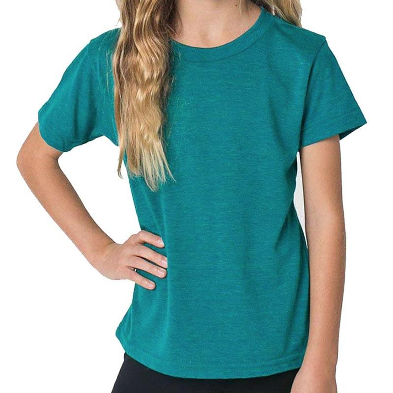 Custom printed - Kids triblend t-shirt (Evergreen) Shirt Alternative