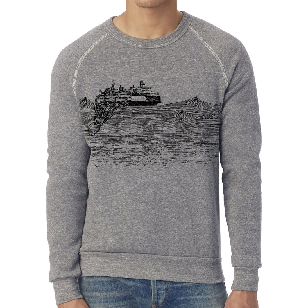 Kraken - Unisex eco fleece sweatshirt (Grey) Sweatshirt Printshop Northwest