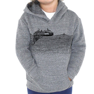 Kraken - Kids Triblend Fleece Hoodie Sweatshirt Printshop Northwest