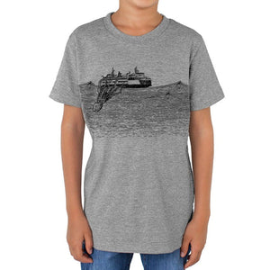 Kraken - Kids triblend t-shirt (Grey) Shirt Printshop Northwest