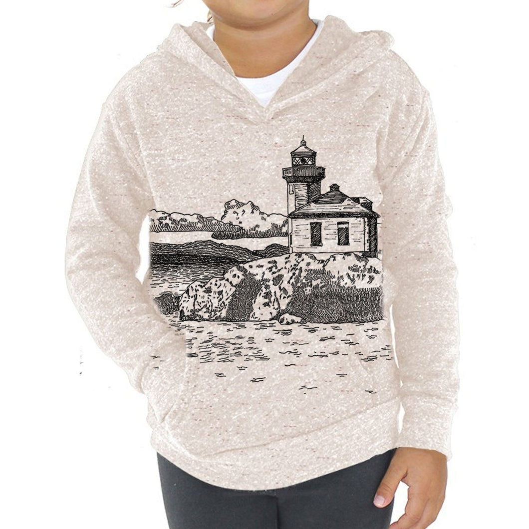 Limekiln - Kids triblend fleece hoodie (Oatmeal) Sweatshirt Printshop Northwest