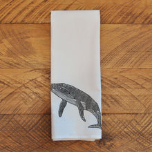 Load image into Gallery viewer, Lino Humpback - Tea Towel Towel Andrew