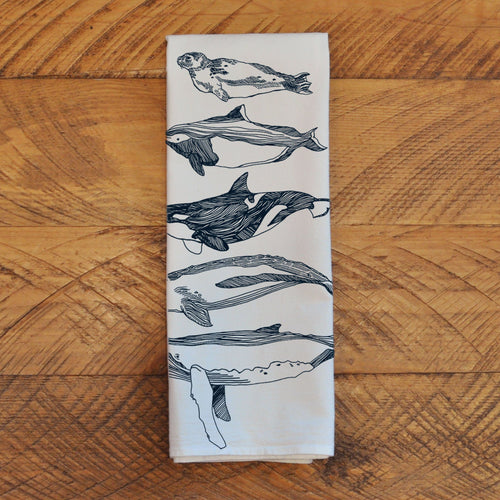 Salish Sea Mammals - Tea Towel Towel Kate