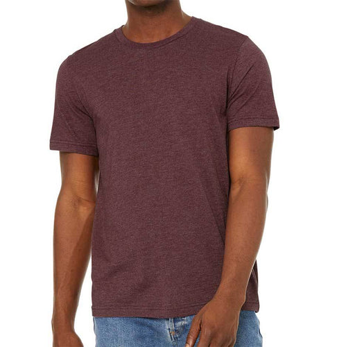 Unisex 50/50 Sueded T-Shirt (Heather Maroon) Shirt AlphaBroder