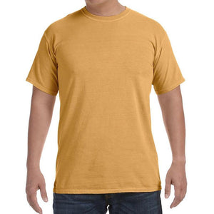 Custom printed - Mens 100% Cotton Garment Dyed (Monarch) Shirt Comfort Colors