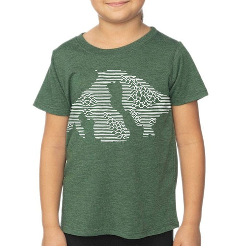 Orcas Mountains - Kids Heather Pine Shirt Shirt Printshop Northwest
