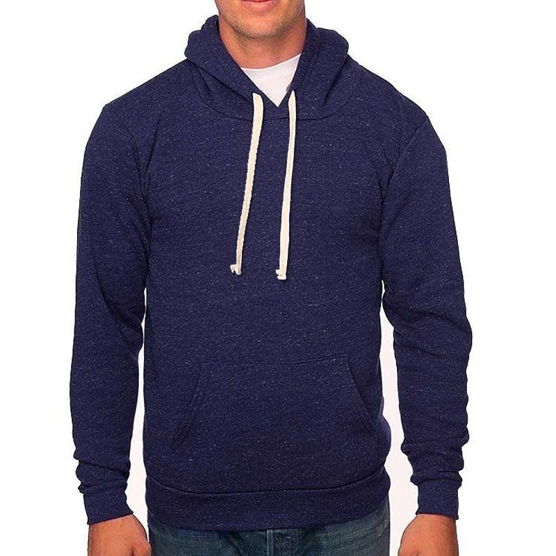 Custom printed - Unisex triblend fleece hoodie (Denim Navy) Sweatshirt Bella/Canvas