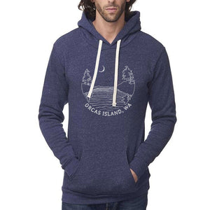 Islands at night - Unisex triblend hoodie (Denim Navy) Sweatshirt Andrew