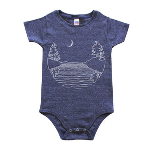 Islands at Night - Triblend Onesie - Navy