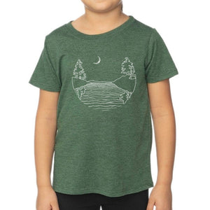 Islands at Night - Kids Heather Pine Shirt Shirt Printshop Northwest