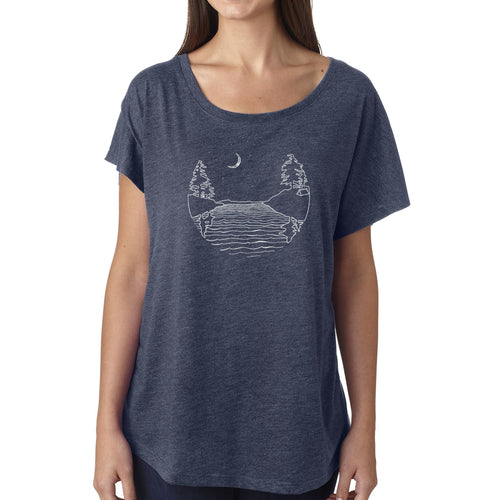 Islands at Night - Womens triblend dolman (Indigo) Shirt Printshop Northwest