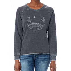 Islands at Night - French Terry Pullover Sweatshirt