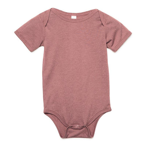 Custom printed - Infant triblend onesie (Mauve) Onesie Royal