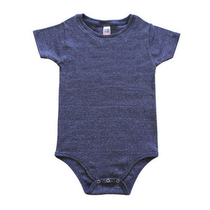 Custom printed - Infant triblend onesie (Navy) Onesie Royal