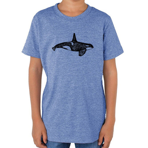 Orca - Kids triblend t-shirt (L.blue) Shirt Printshop Northwest