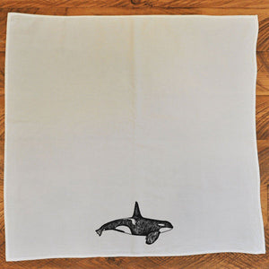 Orca Whale - Tea Towel Towel Andrew