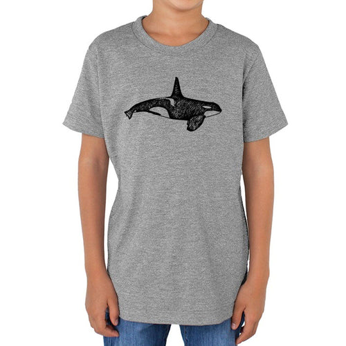 Orca - Kids triblend t-shirt (Grey) Shirt Printshop Northwest