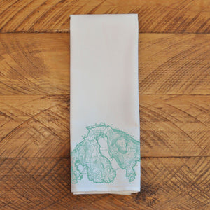 Orcas Map - Tea Towel Towel Andrew