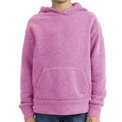 Custom printed - Kids Triblend Pullover Hoodie (Purple) Shirt Alternative