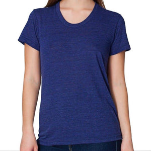 Custom printed - Womens Triblend T-shirt (Indigo) Shirt Alternative