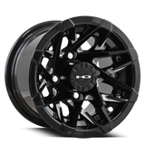 HD Golf Wheels Canyon 10x7.0 in Gloss Black Milled Face