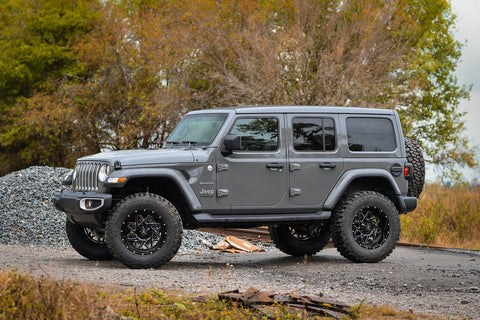 Gallery | Remington Off-Road Edition Grey 2019 Jeep Wrangler JL on 20x10 GRIDLOCK Wheels (Black Milled)