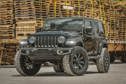 Gallery | Jeep Wrangler on Hollow-Point 20x9 Black Machined Face